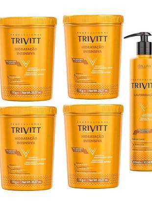 Combo trivitt 4 hidratação itensiva + 1 cauterização 300ml