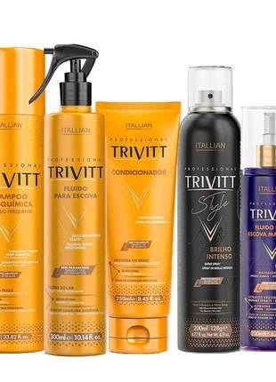 Kit trivitt profissional manutenção matizante (5 itens)