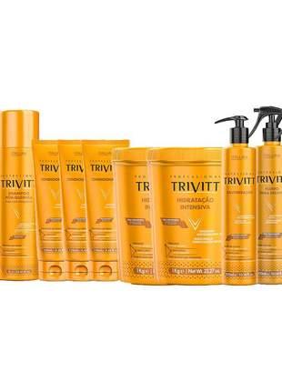 Mega kit trivitt tratamento profissional pós química intensivo (10 itens)