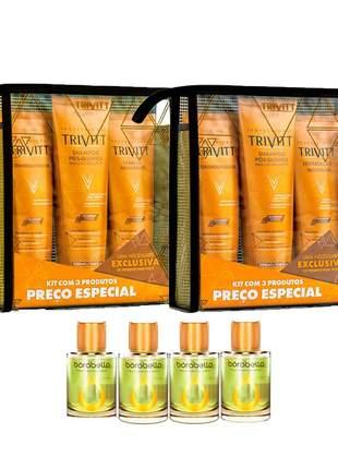 Combo trivitt kit manutenção + kit hidratação + 4 óleo de argan