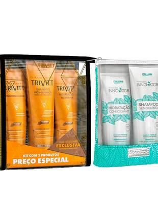 Kit itallian innovator home care + kit trivitt hidratação