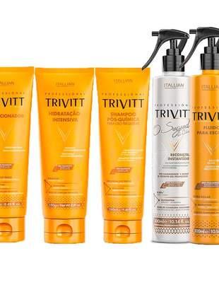 Kit itallian trivitt manutenção capilar profissional (5 itens)