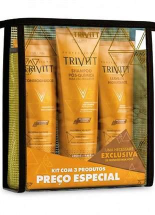 Kit trivitt home care manutenção + segredo + hidratação intensiva