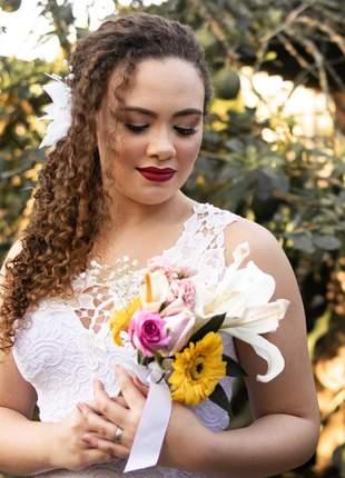 Vestido noiva civil cartório noivas branco renda frete grátis algumas regiões