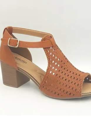 Sandália sapatinho feminino salto medio moda dakota z542