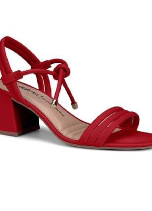 Sandália feminina dakota salto bloco z6223