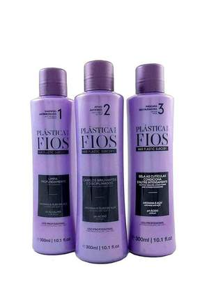 Kit promocional profissional shampoo + máscara + antifrizz plástica dos fios cadiveu