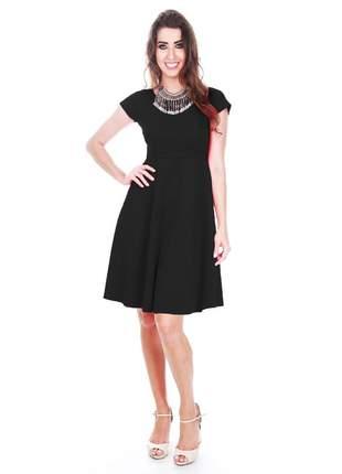 Vestido godê curto preto