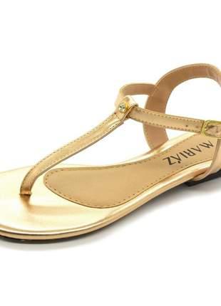 Compartilhar:  sandália rasteira metalizado conforto pedra cristal moda feminina rose gold