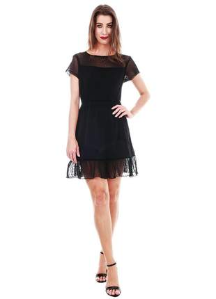 Vestido tule preto