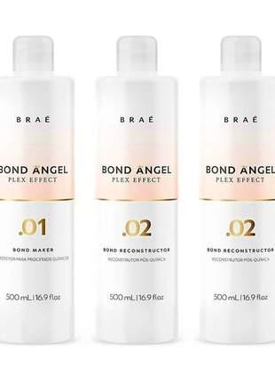 Kit bond angel plex effect profissional braé 500ml (3 itens x 500ml)