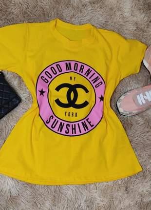 T shirt luxo inspiração chanel