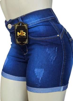 Shorts cintura alta feminino com elastano