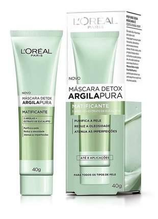 Máscara detox argila pura l'oréal paris  - matificante 40g