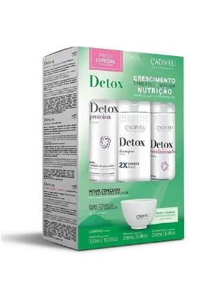 Kit de tratamento home care shampoo + condicionador + proteina detox cadiveu