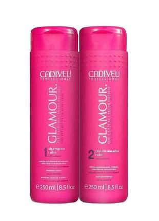 Kit shampoo e condicionador glamour cadiveu 250ml