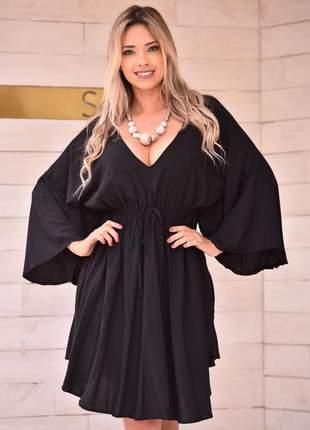 Vestido morcego - black