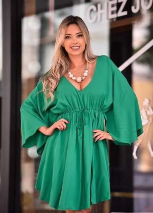 Vestido morcego - green
