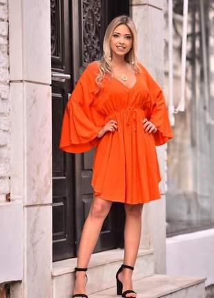 Vestido morcego - orange