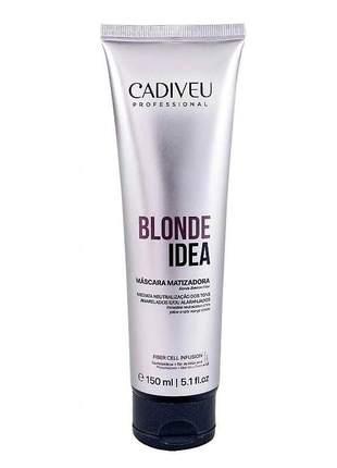 Máscara matizadora blonde idea cadiveu 150ml
