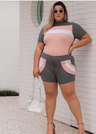 Conjunto julia plus size