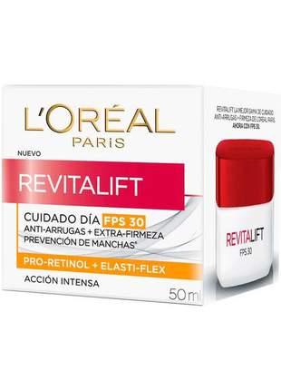 Revitalift creme antirrugas diurno + extra firmeza l'oréal paris fps 18