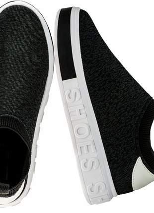Tênis slip on sneaker calce fácil
