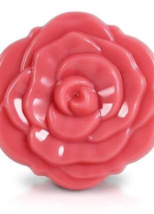 Espelho de bolsa flor rosa