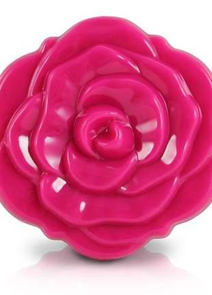 Espelho de bolsa flor rosa pink