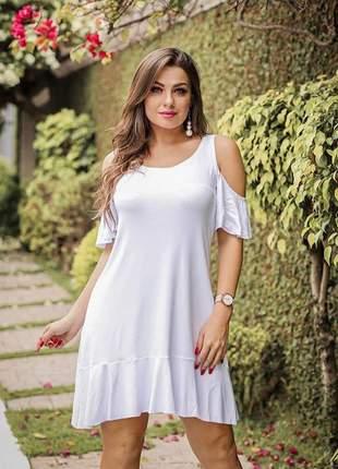 Vestido curto branco soltinho