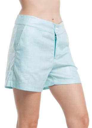 Shorts ralm linho encerado - azul