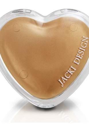 Espelho de bolsa coração dourado