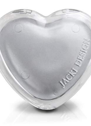 Espelho de bolsa coração cinza