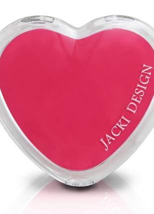 Espelho de bolsa coração rosa
