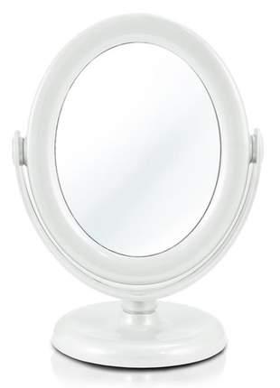 Espelho de mesa dupla face e giratório 360 graus branco