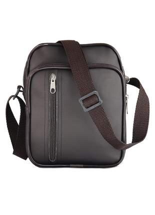 Compartilhar:  bolsa shoulder bag pochete transversal impermeável r:1017 (marrom-escuro)