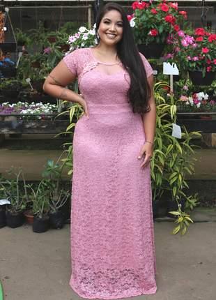 Vestido plus size festa brilho manguinha moda madrinha casamento senhoras moda evangelica