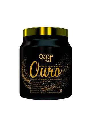 Máscara reconstrução banho de ouro qatar hair 1kg