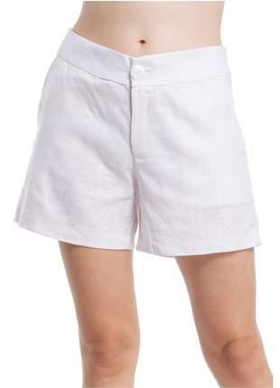 Shorts ralm linho encerado - branco