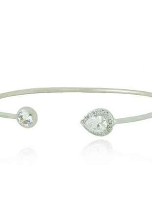 Pulseira bracelete gota prata