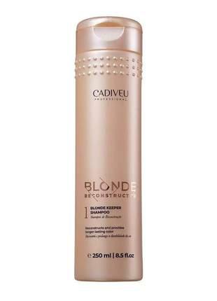 Shampoo de reconstrução blonde keeper cadiveu 250ml