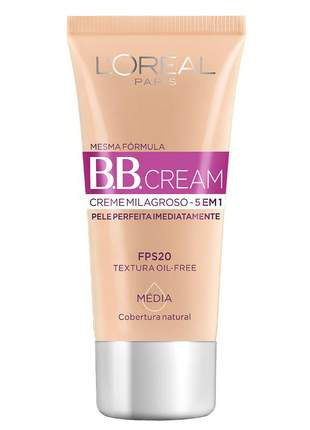 Bb cream l'oréal paris dermo expertise fps20 30ml - cor média