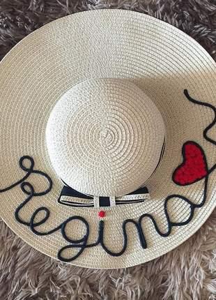Chapéu personalizado com seu nome