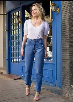 Calça mom jeans escura