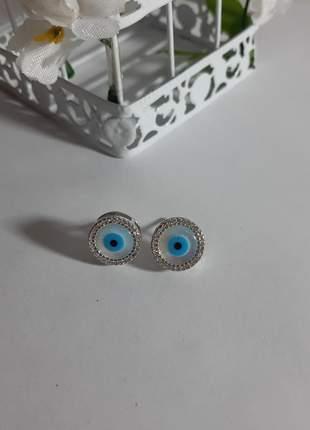 Par de brincos olho grego semi joia