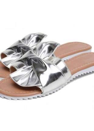 Sandália rasteira com laço stefanello 2086 cores