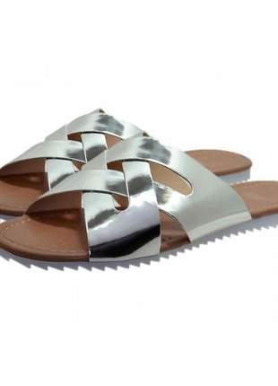 Sandália rasteira verniz stefanello 2092 cores