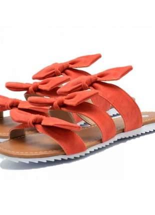 Sandália rasteira laços stefanello 2102 cores