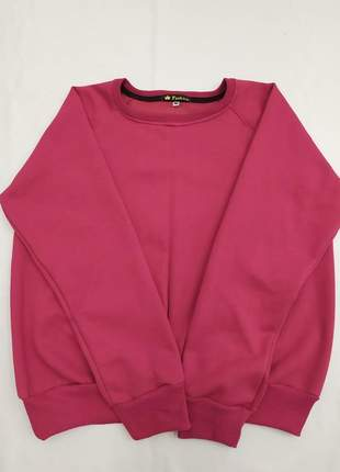 Blusa moletom feminina gola careca redonda tamanhos m, g, gg