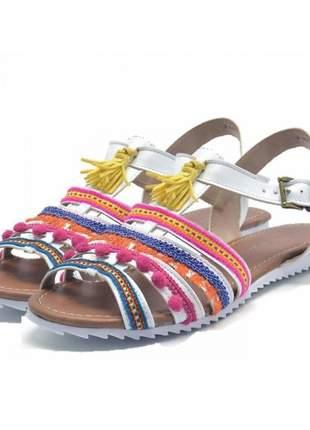 Sandália rasteira stefanello 2105 cores